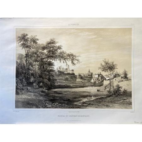 La Vendée, Baron de Wismes, ruines du château de Montagu,, Vendée.
