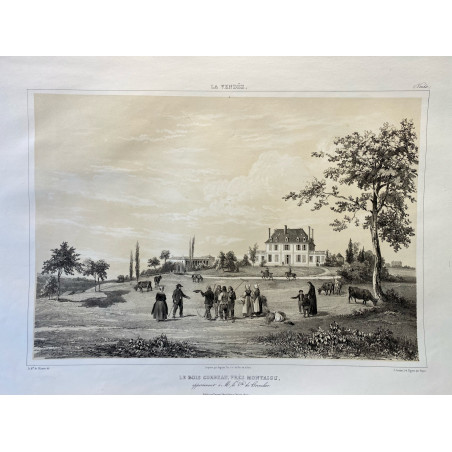 La Vendée, Baron de Wismes, le bois corbeau, près Montaigu, Vendée.