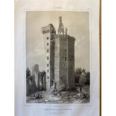 La Vendée, Baron de Wismes, ruines du château de Flocelliere, Vendée.