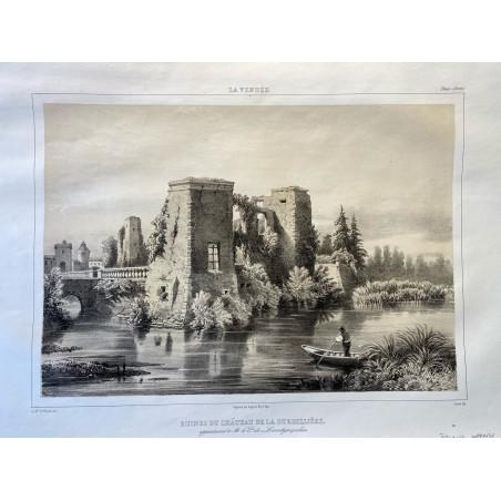 La Vendée, Baron de Wismes, ruines du Château de la Durbelllière,Deux-Sèvres.