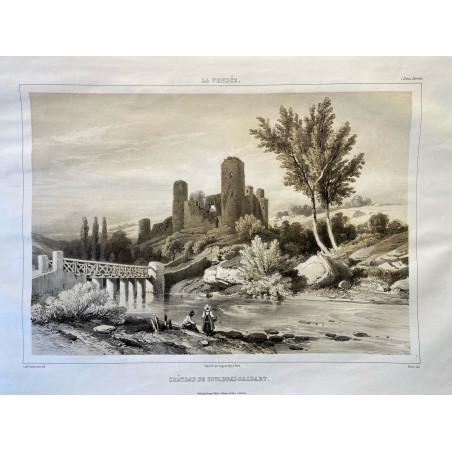 La Vendée, Baron de Wismes, château  de Couldrai-Salbart, Deux-Sèvres.