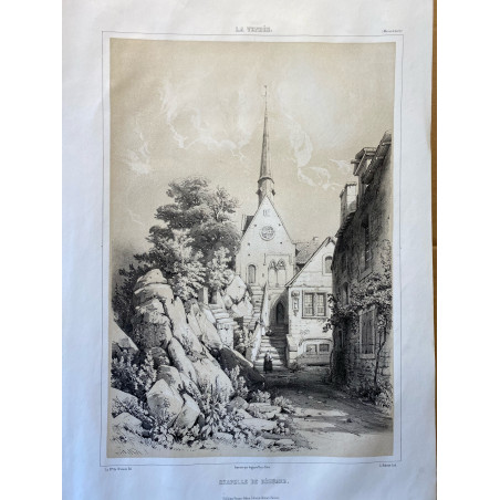 La Vendée, Baron de Wismes, chapelle de Béhuard, Maine et Loire.