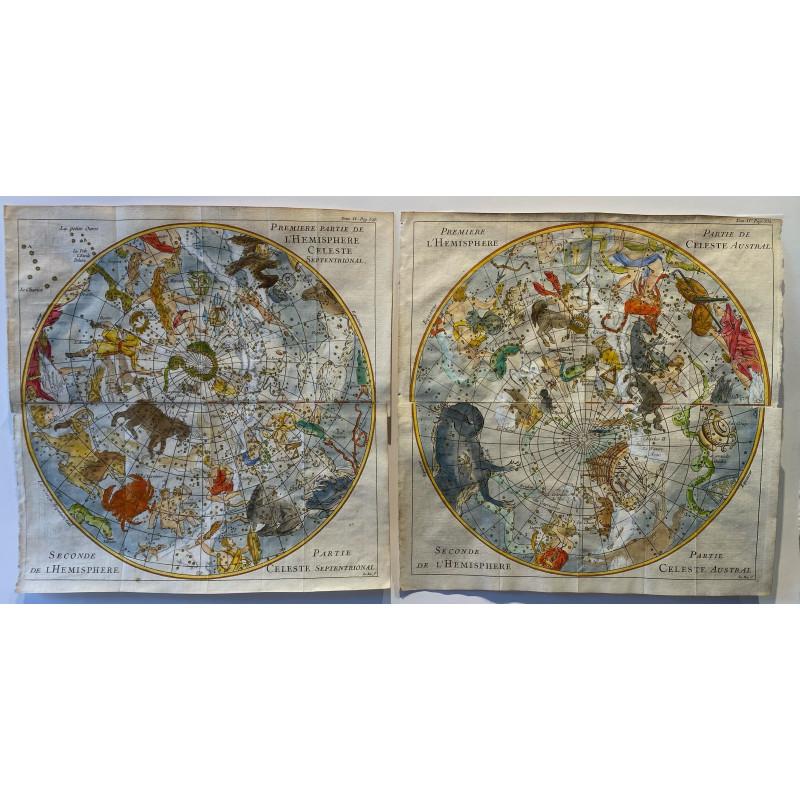 carte du ciel XVIII eme Siècle