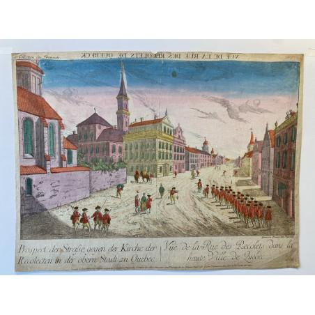 Vue de la rue des Recolets dans la haute ville de Quebec