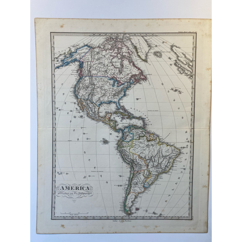 America, 1872, justus Perthes, stieler hand atlas