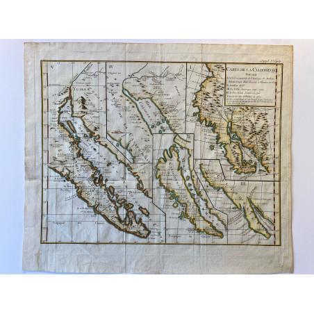 Carte de la Californie, 1770.