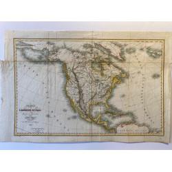 Carte génerale de l'Amérique du Nord. 1836.