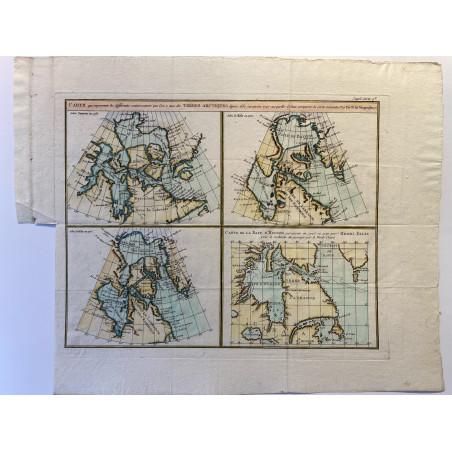 Carte des terres Arctiques,1774.
