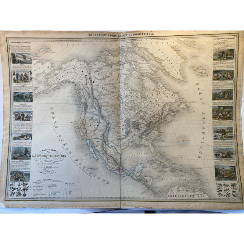 Nouvelle carte illustrée de l'Amérique du Nord, Vuillemin, 1860