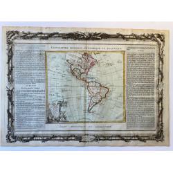 Carte d'Amérique, Brion 1790.