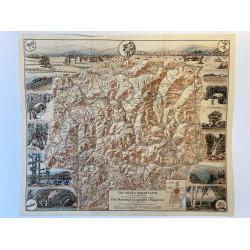 Carte de white mountains of New Hampshire. 1937