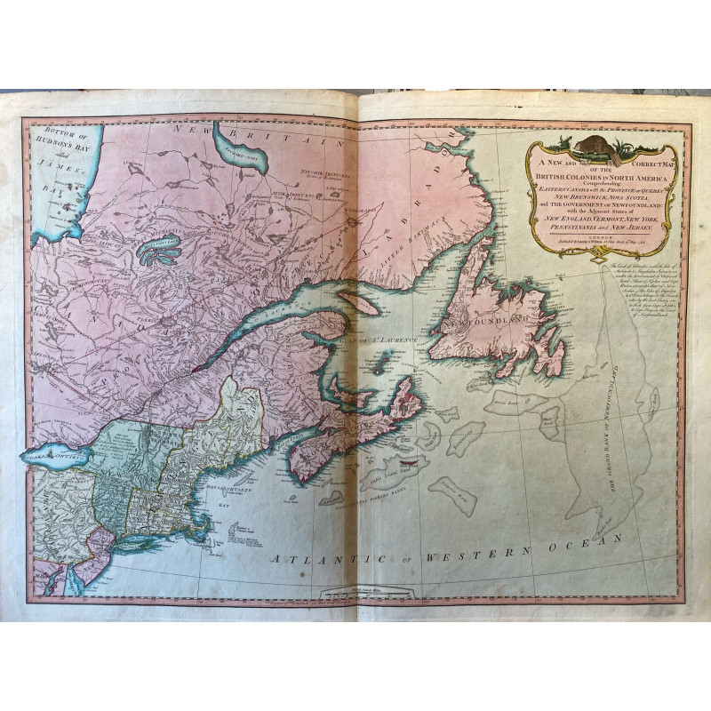 A new and correct map of the British colonies in North America, Laurie and Witthle 1794.