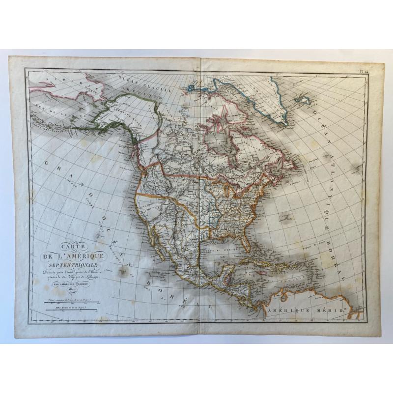 Carte de l'Amérique Septentrionale, Ambroise Tardieu, 1821.
