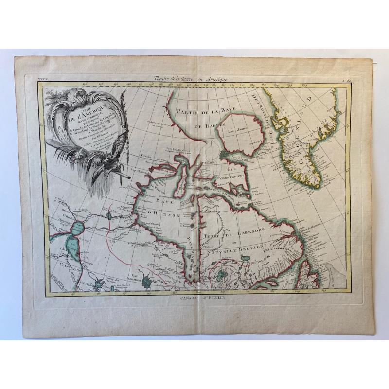 Partie de l'Amérique Septentrionale par R. Bonne 1776
