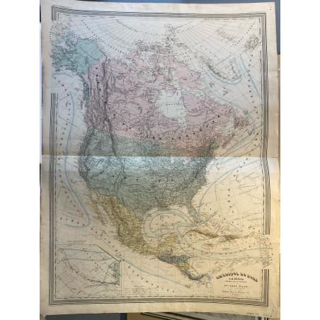 Amérique du Nord, Dufour, 1860.