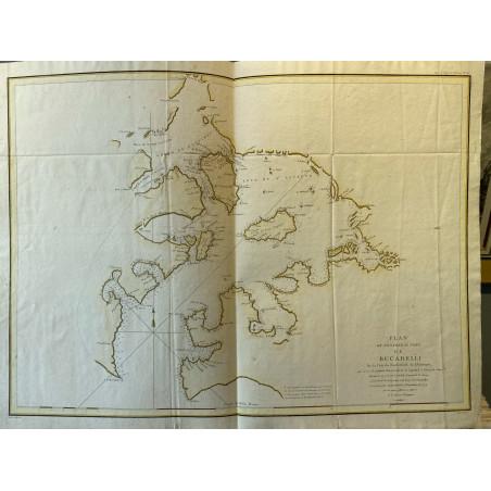 Plan de l'entrée du port de Bucarelli, La pérouse, 1780.
