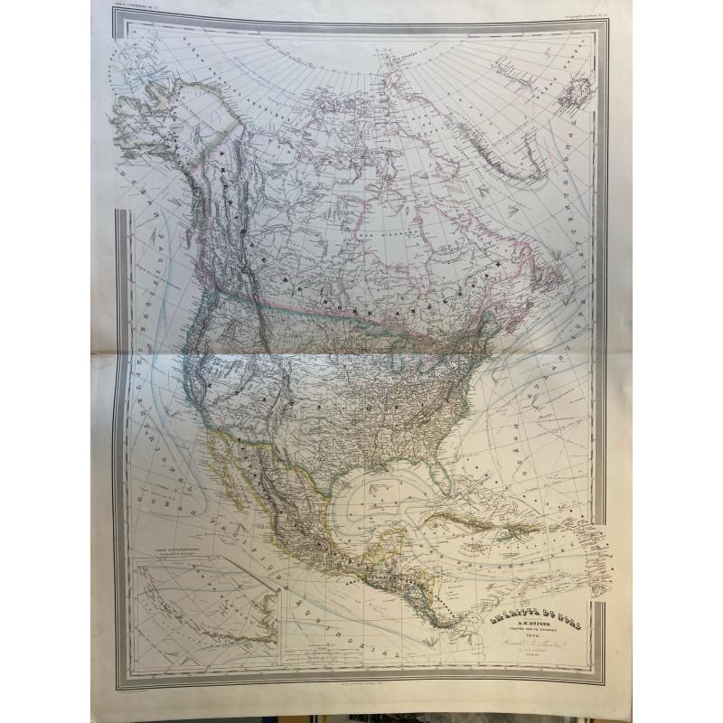 Amérique du Nord, Dufour, 1864.
