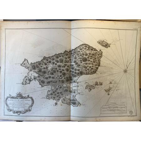 Plan de l'ile de saint Pierre au sud de terre neuve, Bellin 1763.