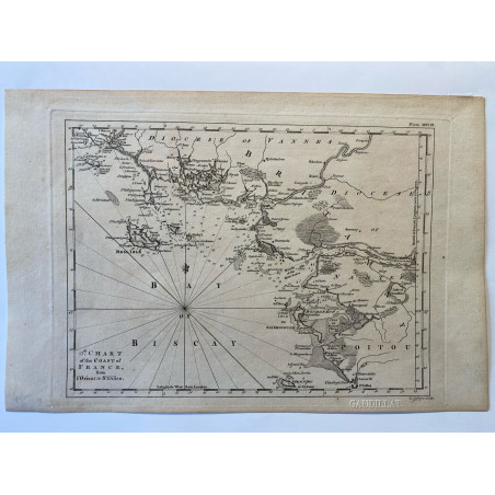 9 th chart of the coast of France, from Lorient to St Gilles, T. Jefferys 1761.