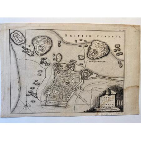 Plan of the city and castle of St Malo, T.Jefferys, 1761