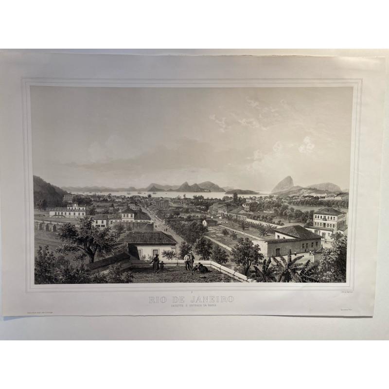 Rio de Janeiro, Catette e entrada da Barra, E.Ciceri,1860.