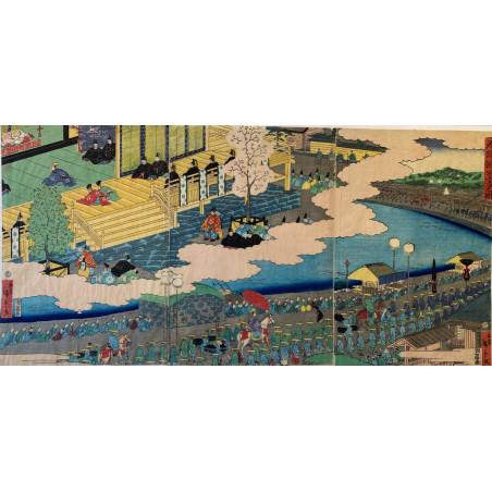 Triptyque d'estampe Japonaise, Hiroshige II