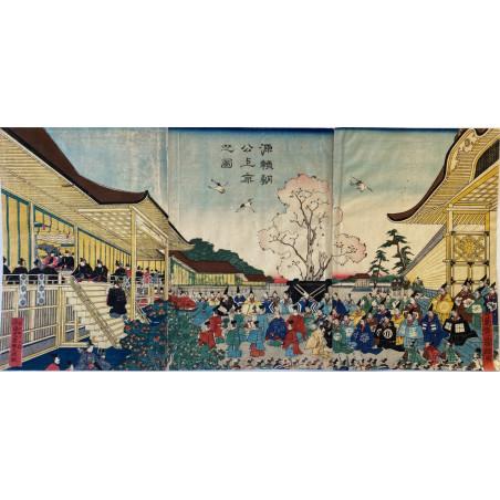 Triptyque d'estampe Japonaise, Yoshimori
