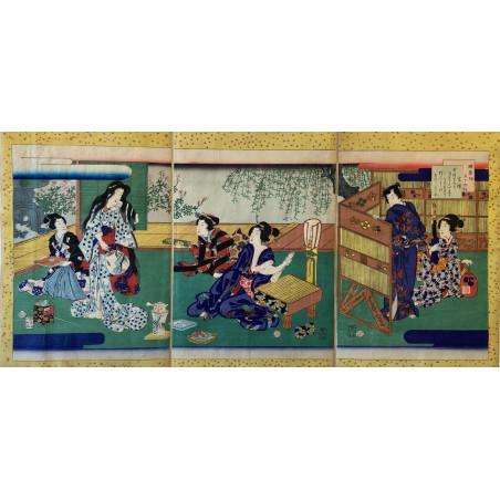 Triptyque d'estampe Japonaise