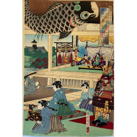 Chikanobu, estampe japonaise. 1885.