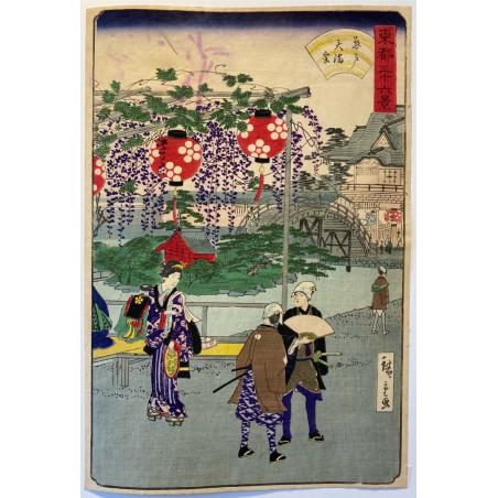 Hiroshigé II, 36 views of eastern capital, Kameido Temmangū shrine.