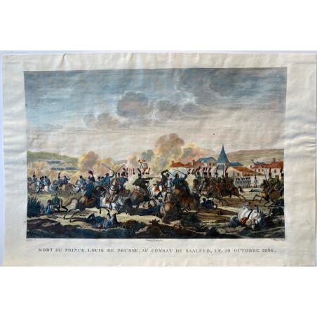 Mort du  Prince Louis de Prusse, au combat de Saafeld, le 10 Octobre 1806